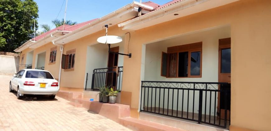 Spacious 2 bedroom house for rent in Namugongo at 350k