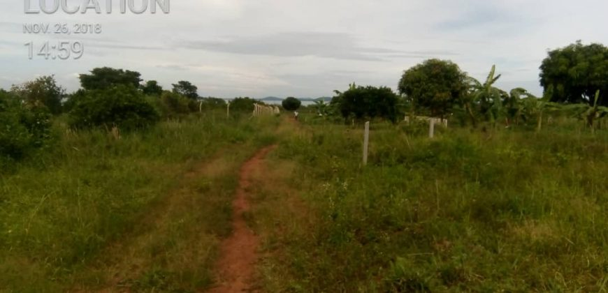 Land for sale in Lukaya Mukoko Birinzi at shs 2500000