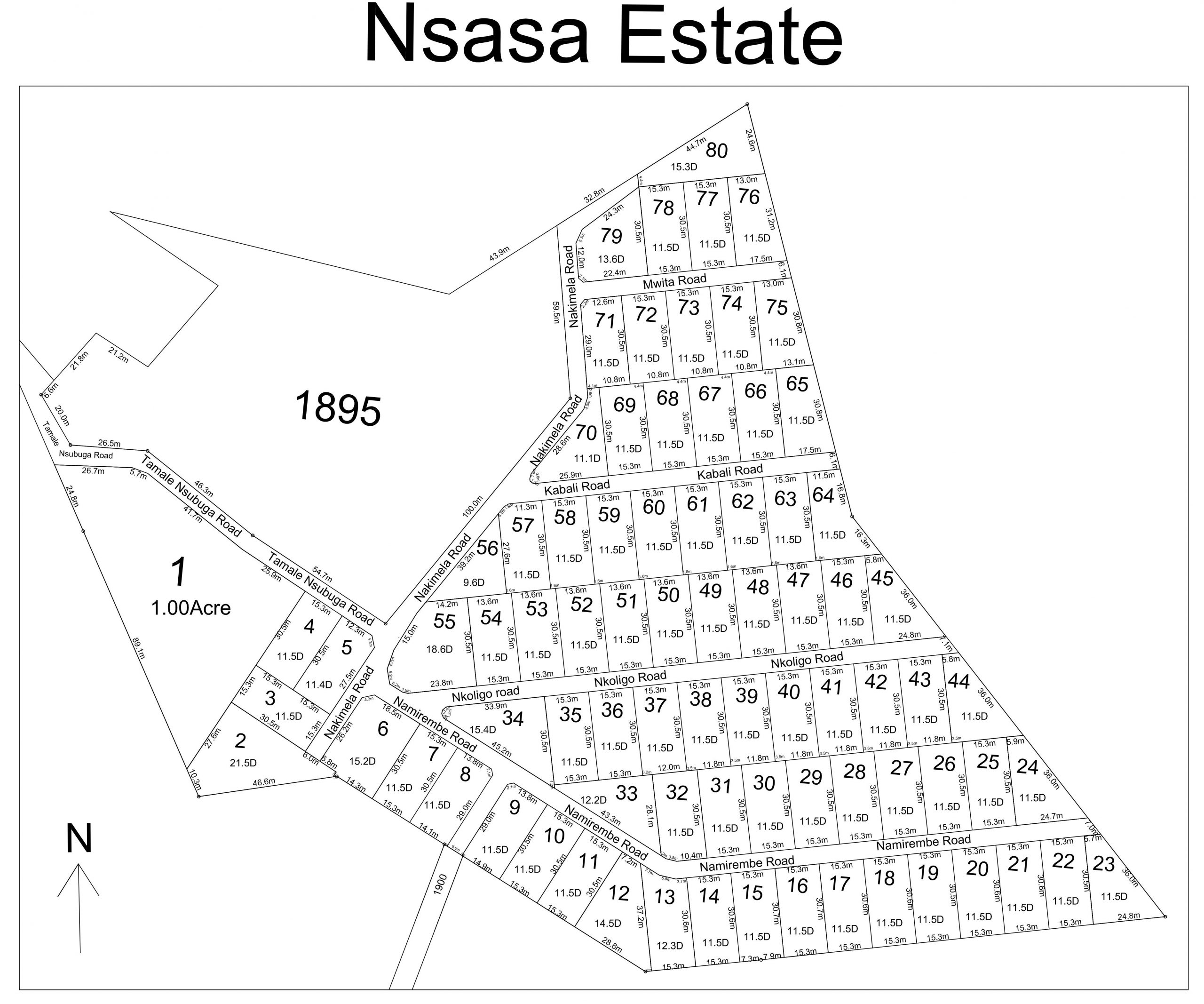 11 ACRES KIRA NSASA ESTATE ON SALE @300 MILLIONS PER ACRE