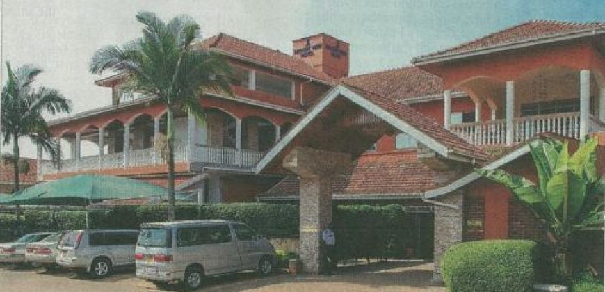 Hotel for sale in Entebbe at shs 2,400,000 US dollars.